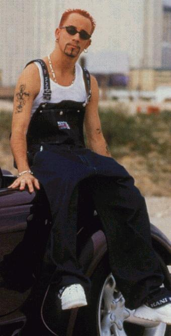 A.J. in overalls looking so cute! *Quick Fact* When A.J. was young he did puppeteering and ventriloquism!