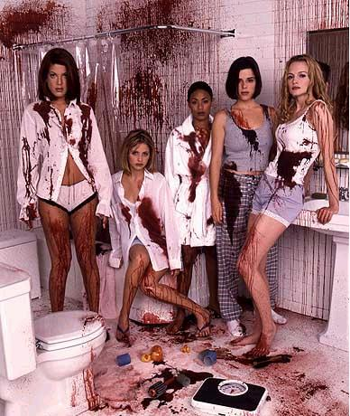 "A....well.....bloody pic of some of the girls in ""Scream 2!"""