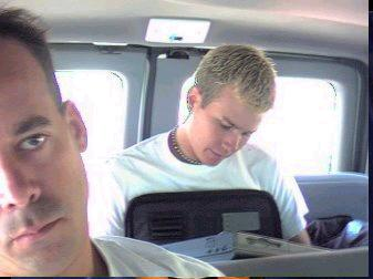 Tom in a van! *Quick Fact* Tom writes all of Blink 182's songs with fellow bandmate, Mark Hoppus!